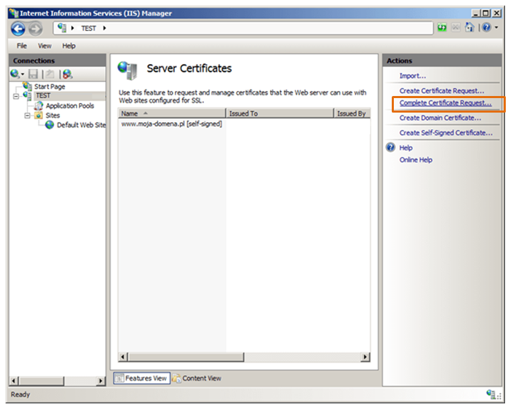 Certum Instructions Ssl